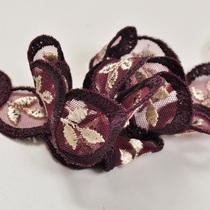 Ажурная тесьма цвета баклажан