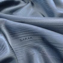 Подкладка жаккардовая принт SARAR средне-синего цвета в диагональную полосу