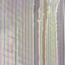 Подкладка жаккардовая серо-бежевая в поперечную цветную полоску