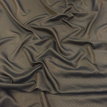 Подкладка жаккардовая цвета шоколада с золотистыми огурцами