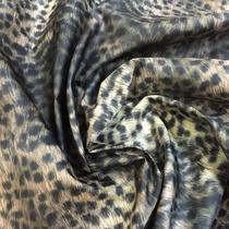 Тонкая плащевая ткань принт леопард