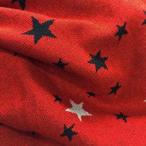 """Джерси вискозное трикотажное мягкое теплое """"Звезды на красном фоне"""""""