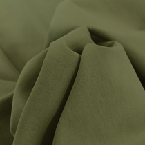 Хлопок плотный стрейч темно-оливкового цвета