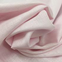 Лен летний пастельно-розового цвета