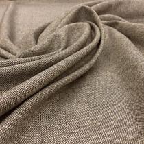 Твид костюмный стрейч серо-коричневая кашка