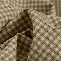 Костюмно-плательная шерсть стрейч в клетку