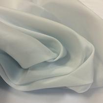 Органза шелковая стрейч голубого разбеленого цвета