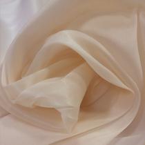 Органза шелковая стрейч цвета пепел розы