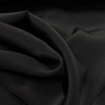 Шелк креп тонкий черного цвета с отливом