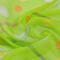 Шифон креш шелковый ярко-салатного цвета