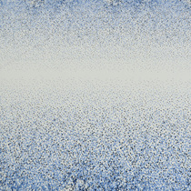 Вискозный трикотаж с двухсторонним растительным купоном в синих тонах