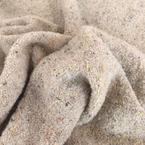 Костюмно-пальтовое шерстяное букле бежевого цвета