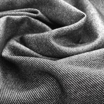 Твид стрейч костюмный с шелком серо-черная гамма