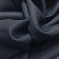 """Шерсть костюмная в """"елочку"""" темно-синего цвета Super 120"""