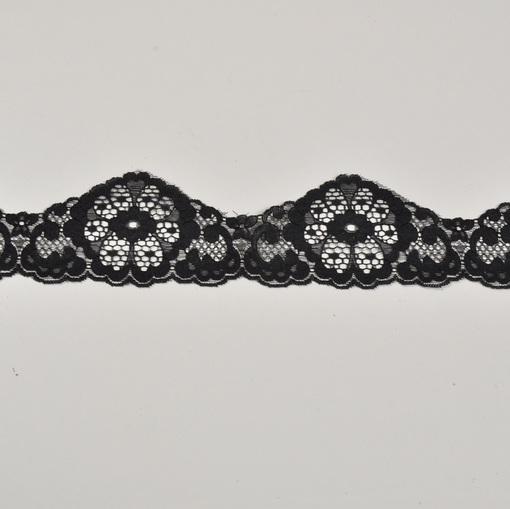 Кружевная тесьма черного цвета