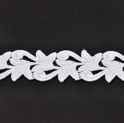 Белое узкое кружево ришелье