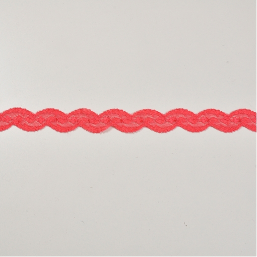 Ярко-розовое кружево-тесьма стрейч