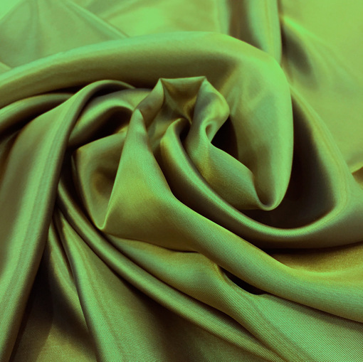Вискозная подкладка хамелеон оливково-синяя