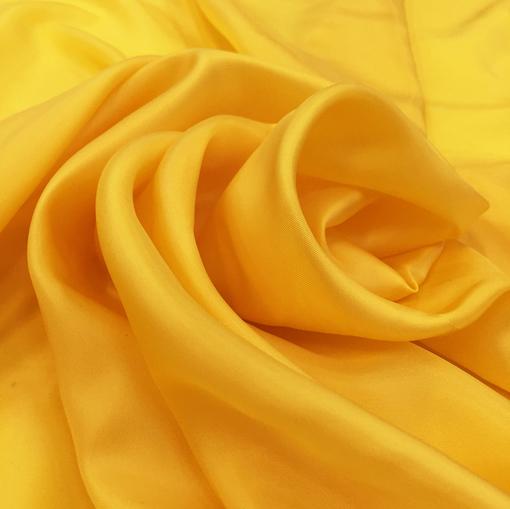 Вискозная подкладочная ткань яркого желтого цвета