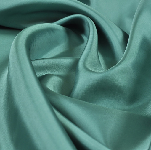 Подкладка вискозная атласная светлая зелено-бирюзовая