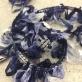 Тесьма-бахрома на резинке в сине-голубых тонах