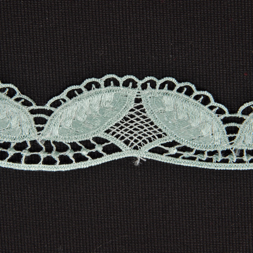 Тесьма плетеная грязно-бирюзового цвета