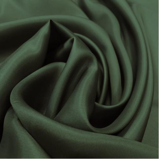 Подкладка вискозная диагональ тёмно-зеленого бутылочного цвета