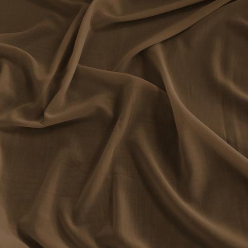 Хлопок батист стрейч цвета молочного шоколада