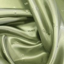 Подкладка жаккардовая принт HUGO BOSS золотисто-оливкового цвета