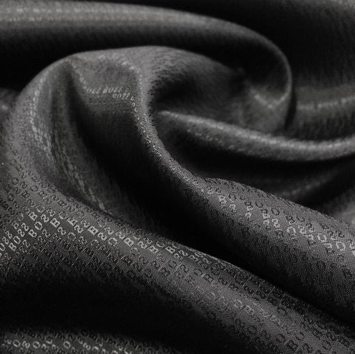 Подкладка жаккардовая Hugo Boss черного цвета мелкая фактура