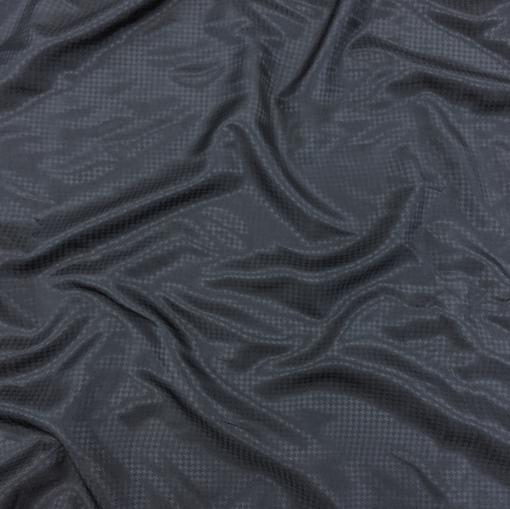 Подклад вискозный жаккардовый пье-де-пуль темно-синего цвета