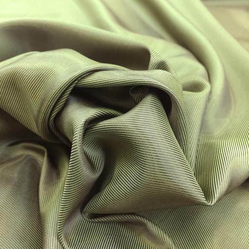Подкладка хамелеон оливкового цвета с легким медным отливом