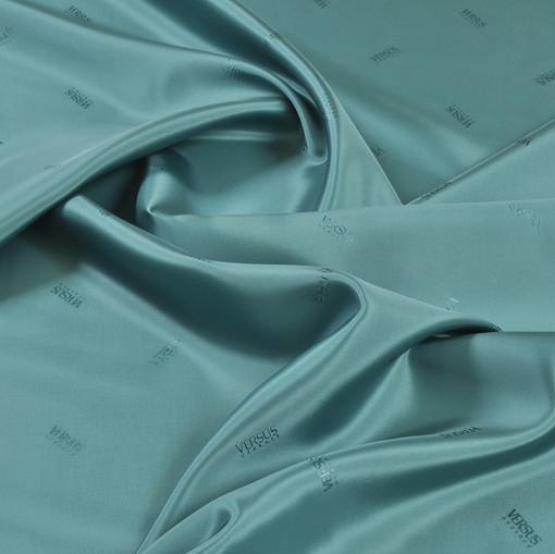 Жаккардовая подкладочная ткань нежного изумрудного цвета Versus Versace