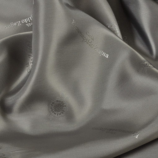 Жаккардовый подклад серый Ermenegildo Zegna