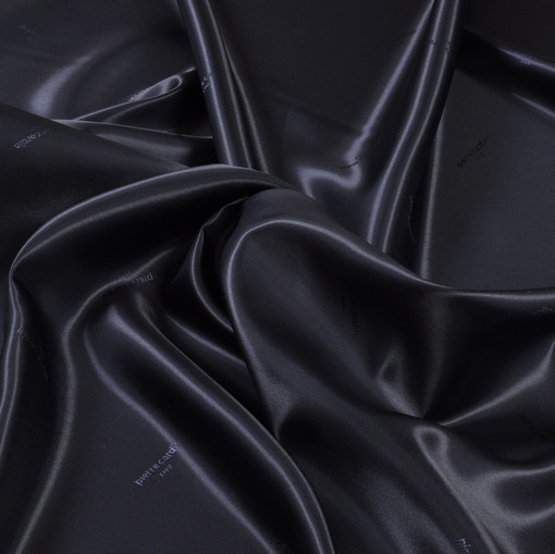 Жаккардовый подклад темно синего цвета Pierre Cardin