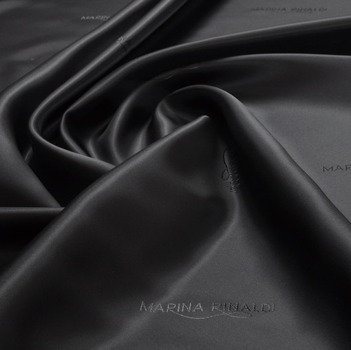 Жаккардовый подклад черного цвета Marina Rinaldi