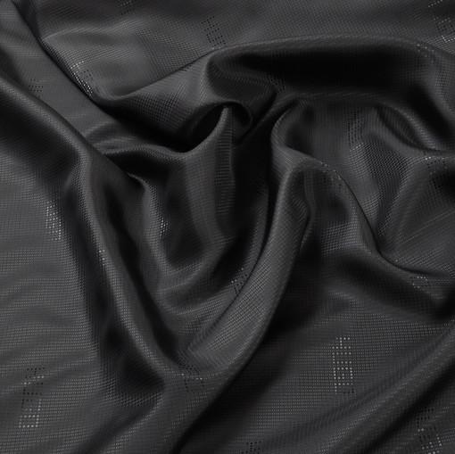 Жаккардовый подклад черного цвета Hugo Boss