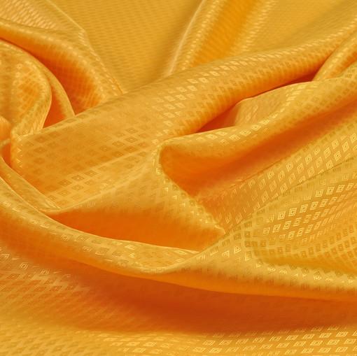 Жаккардовый подклад оранжево-желтого цвета