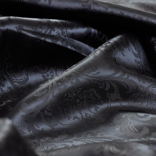 Темно-синий вискозный подклад жаккардовый