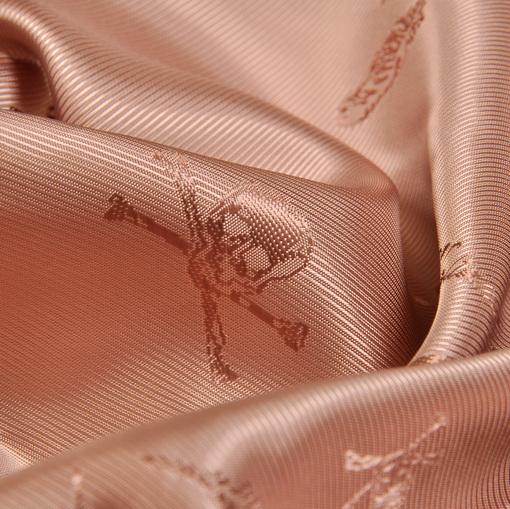 Вискозный подклад жаккардовый розово-кофейного цвета