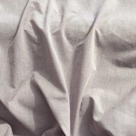 Хлопок тонкий рубашечный под лен серо-розового цвета