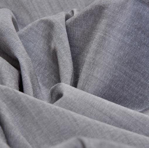 Хлопок стрейч рубашечный серый