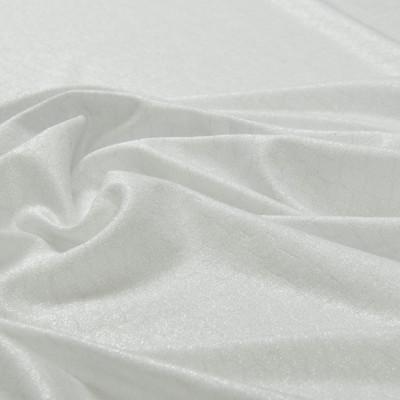 Вискозный белый трикотаж с напылением, под кожу рептилий