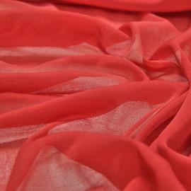 Сетка из вискозного полотна красного цвета