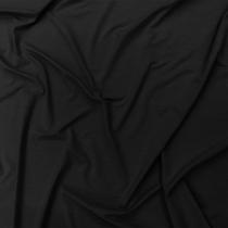 Трикотаж вискозный мягкий черного цвета