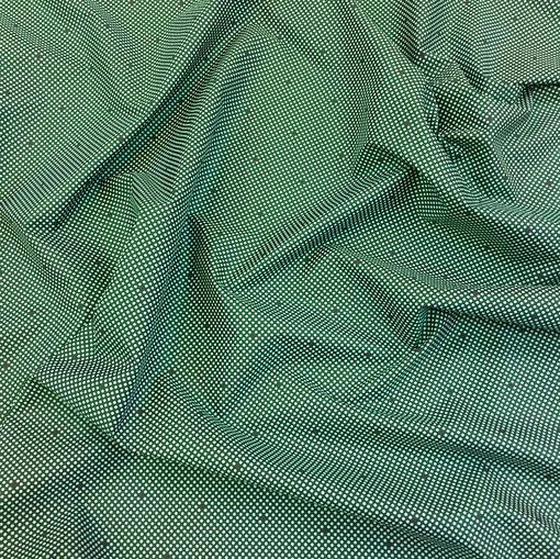 Подкладка жаккардовая Hugo Boss горошки на зеленом фоне