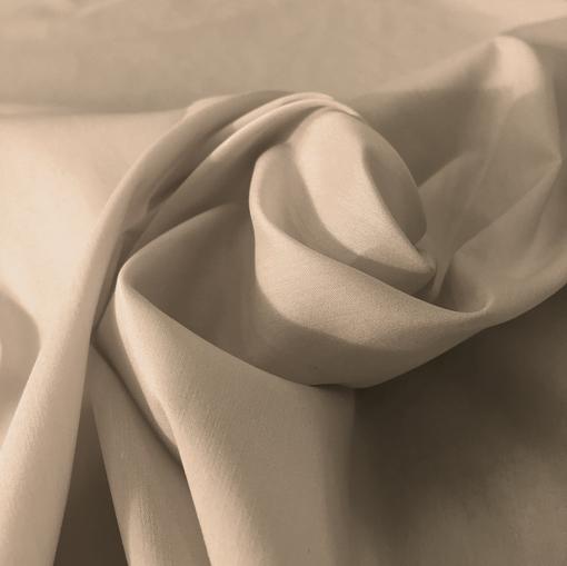 Хлопок рубашечный стрейч серо-бежевого цвета