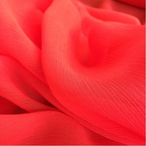 Вискоза креповая шифон ярко-малинового цвета