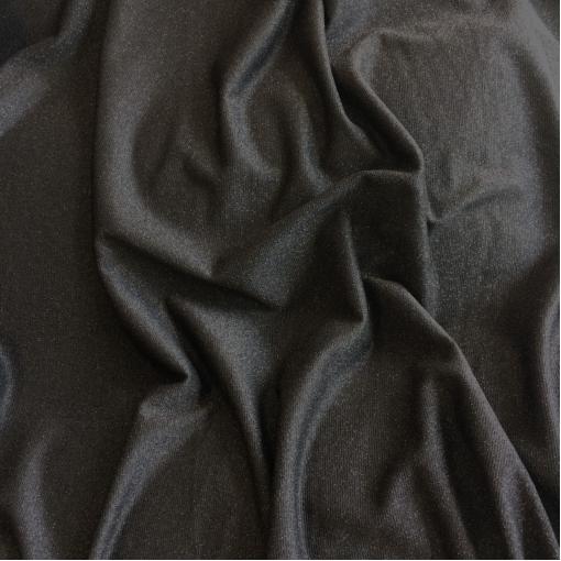Трикотаж вискозный легкий черного цвета с нежным люрексом