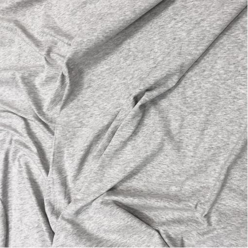 Трикотаж вискозный стрейч светло-серый меланжевый